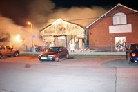 Fire damage to adjacent buildings