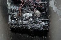 Burnt out fuse box