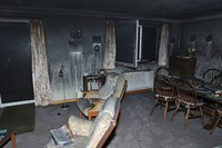 The fire caused extensive smoke damage to the rest of the house The fire caused extensive smoke damage to the rest of the house