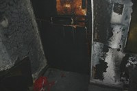Fire damage at the entrance
