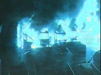 Still from CCTV taken at the time of the fire.