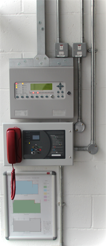 Fire alarm panel with Zone map