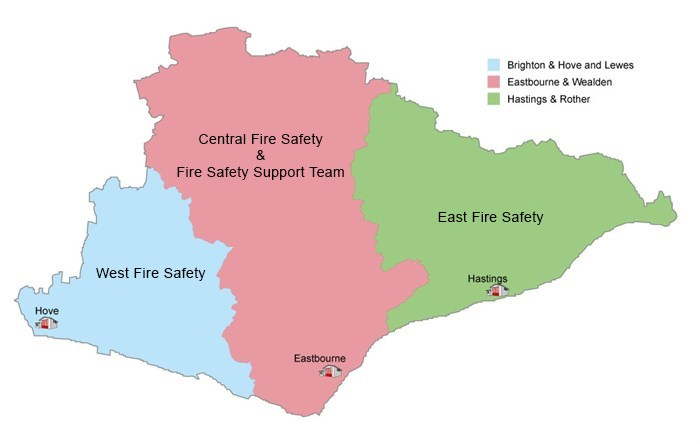 Map of Business Safety Offices