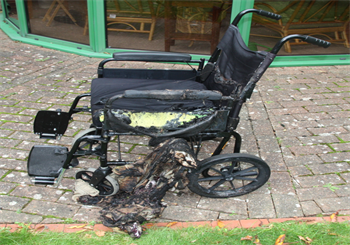 Burnt Wheelchair