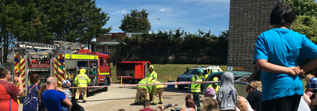 Picture of people at a fire station open day