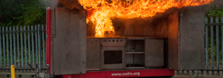 Picture of a kitchen fire demonstration