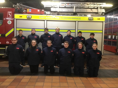 Fire Cadets Arrive In East Sussex East Sussex Fire Rescue Service