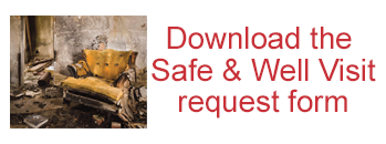 Safe and Well Visit request form