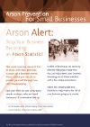 Arson Alert for Small Businesses leaflet